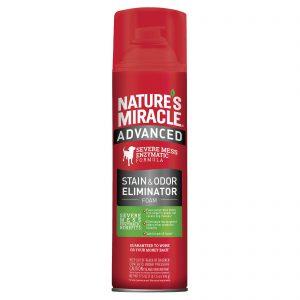 Уничтожитель пятен и запахов с усиленной формулой для собак, аэрозоль-пена